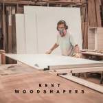woodworker with woodshaper